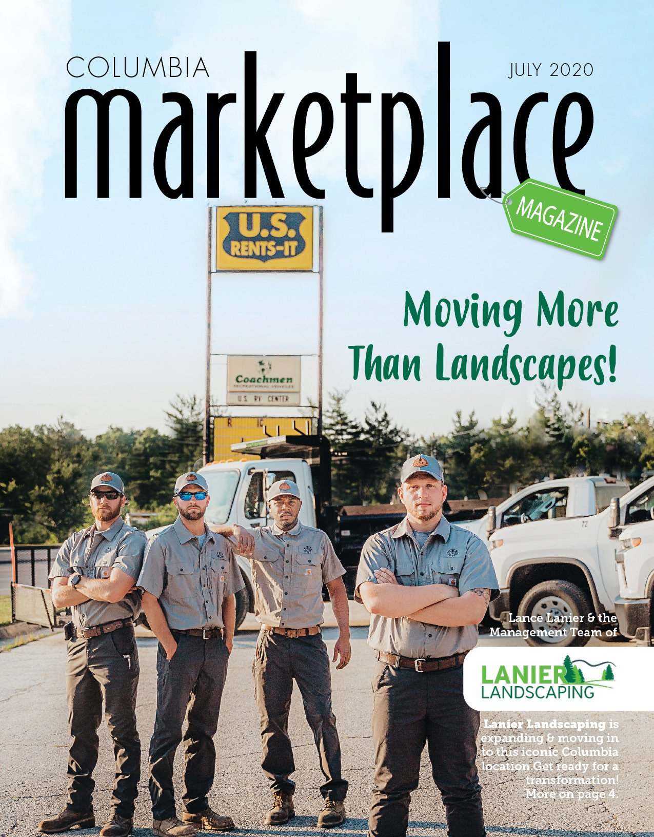 Marketplace Magazine by Modern Media Concepts July 2020 Edition Featuring Lanier Landscaping Designer in Columbia Missouri 1