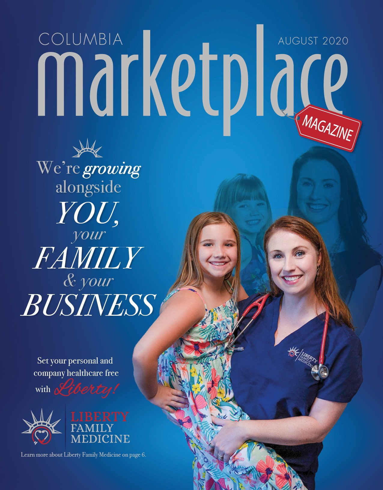 Marketplace Magazine by Modern Media Concepts August 2020 Edition Featuring Liberty Family Medicine in Columbia Missouri