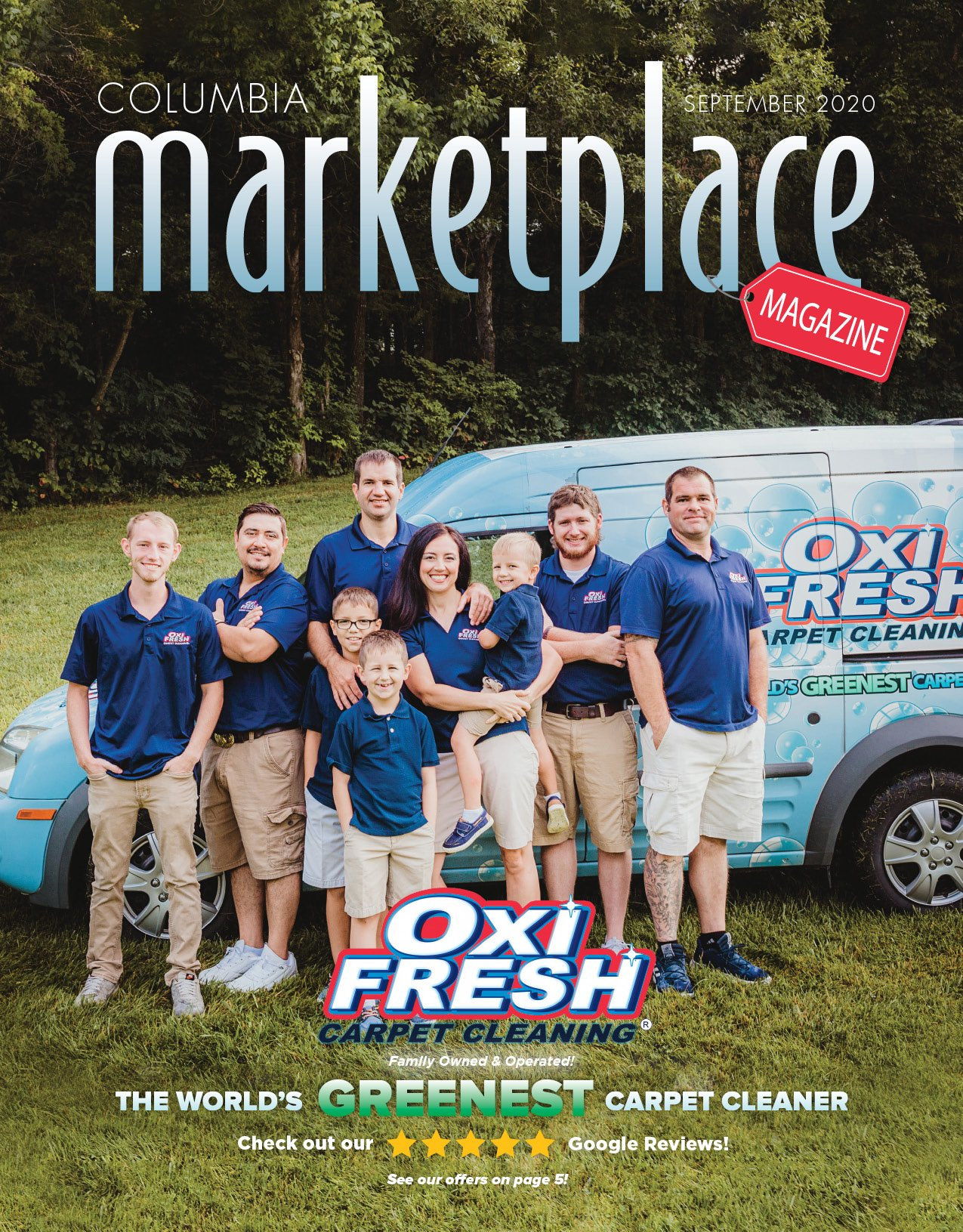 Marketplace Magazine by Modern Media Concepts September 2020 Edition Featuring OXI Fresh Carpet Cleaning in Columbia Missouri