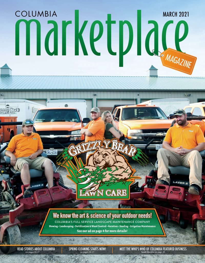 Marketplace Magazine by Modern Media Concepts Grizzly Bear Lawncare and Landscaping March 2021